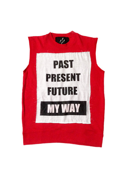 PAST PRESENT FUTURE TANK — RED