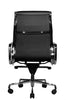 Clyde Ergonomic Highback Office Chair Black Leather Rear View