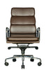 Wobi Office Brown Eames Soft Pad Replica High Back Chair Front