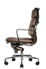Wobi Office Brown Eames Soft Pad Replica High Back Chair Side