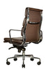 Wobi Office Brown Eames Soft Pad Replica High Back Chair Quarter Back