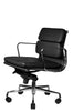 Wobi Office Black Eames Soft Pad Replica Low Back Chair Quarter Front