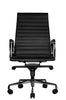 Wobi Office Black Eames Ribbed Management Replica High Back Chair Front