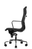 Reed Ergonomic Highback Black Leather Chair Profile View