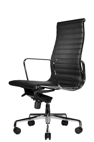 clyde ergonomic highback office chair white leather from wobi office