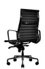 Wobi Office Black Eames Ribbed Management Replica High Back Quarter Back