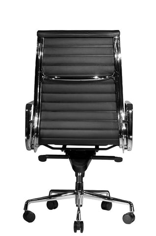 eames ribbed chair tan office. Wobi Office Black Eames Ribbed Management Replica High Back Chair Tan C