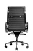 Reed Ergonomic Highback Black Leather Chair Rear View