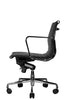 Wobi Office Black Eames Ribbed Management Replica Low Back Chair Side