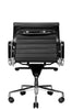 Reed Ergonomic Lowback Black Leather Chair Rear View