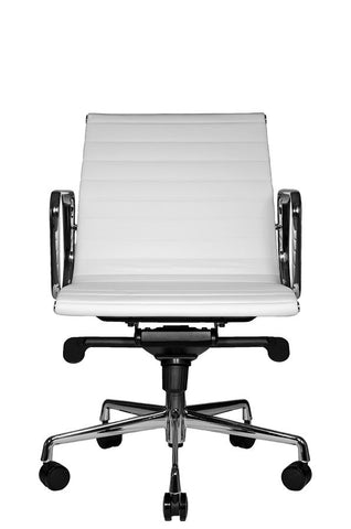 Reed Lowback Chair (White) - Wobi Office