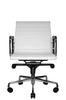 Wobi Office White Eames Ribbed Management Replica Low Back Chair Front