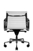 Reed Ergonomic Lowback White Leather Chair Rear View