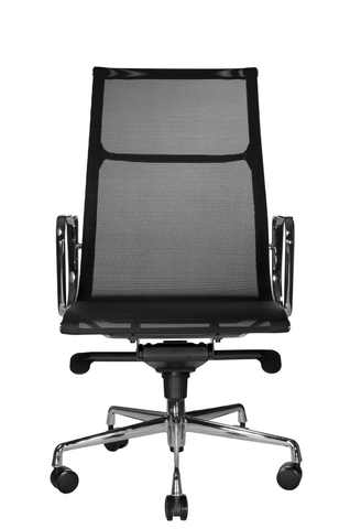 Wobi Office Black Eames Mesh Management Replica High Back Chair Front