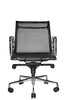 Wobi Office Black Eames Mesh Management Replica Low Back Chair Front