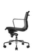 Wobi Office Black Eames Mesh Management Replica Low Back Chair Side