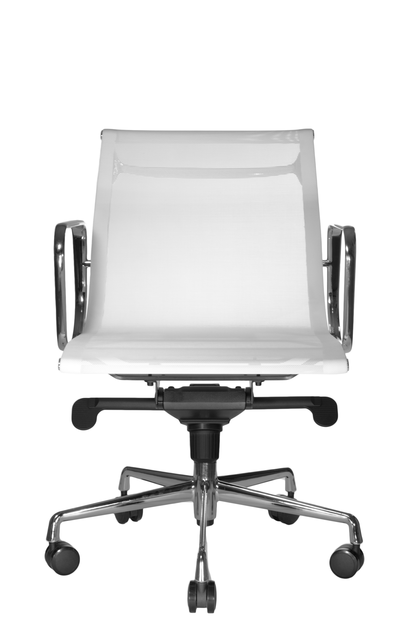 Reed Mesh Lowback Chair White