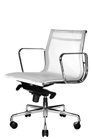 reed mesh ergonomic lowback office chair white from wobi office