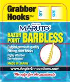 Maruto Barbless Grabber Hook:  single sickle style