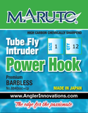 Tube Fly/Intruder Power Fly Hook by Maruto: a barbless Grabber Hook