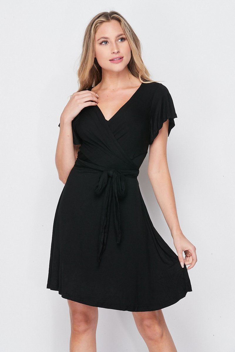 Blank Lewks | All Wrapped Up Tie Dress | Black