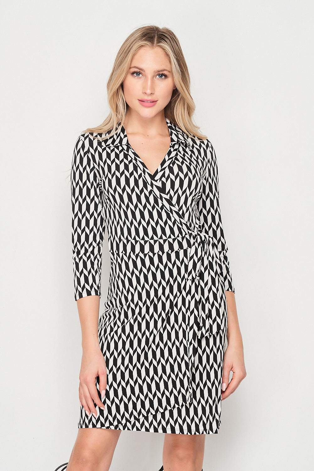 Blank Lewks | It's A Wrap Printed Dress | Black/White