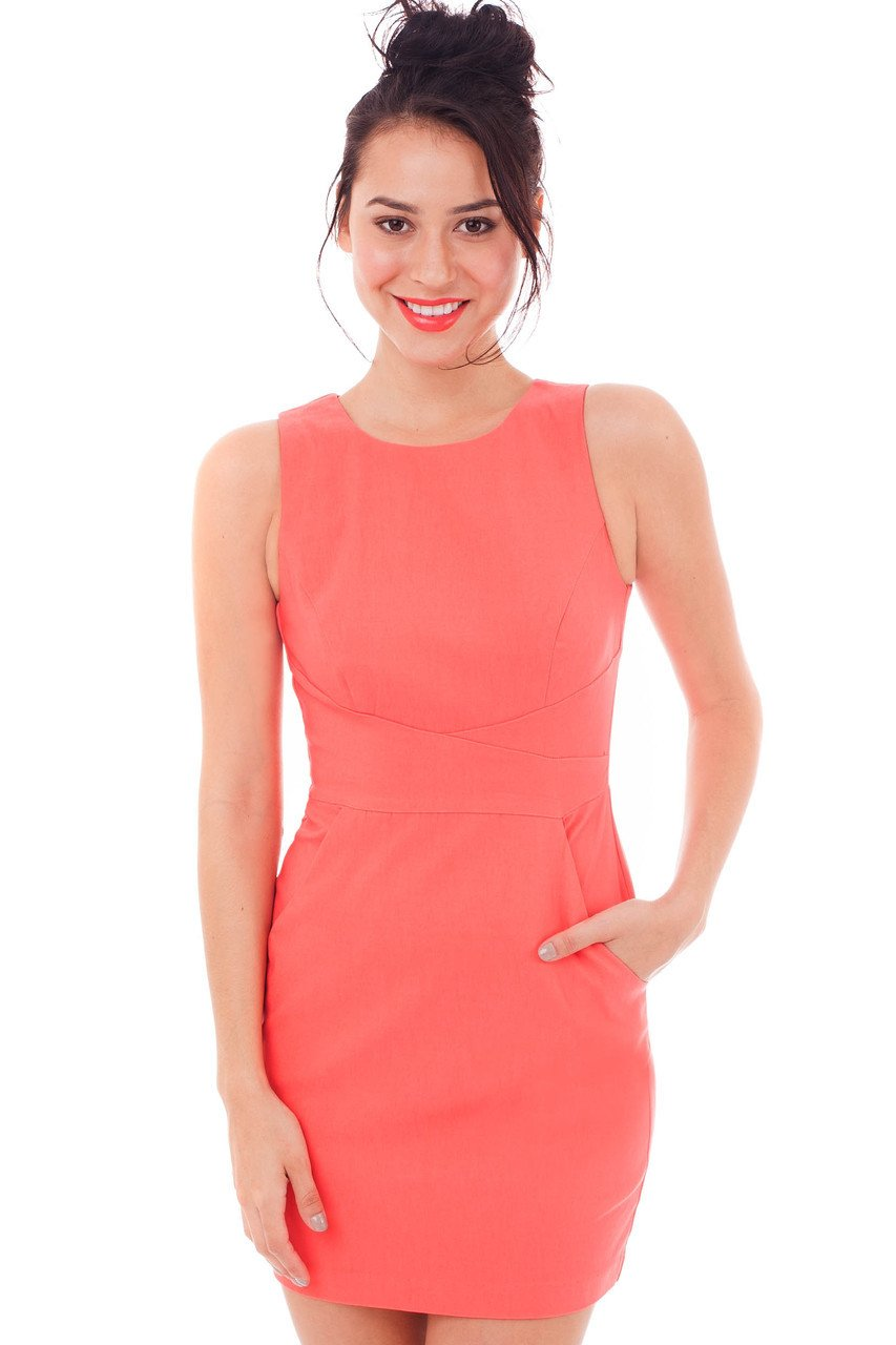 Teeze Me | Crossroads Dress  | Coral