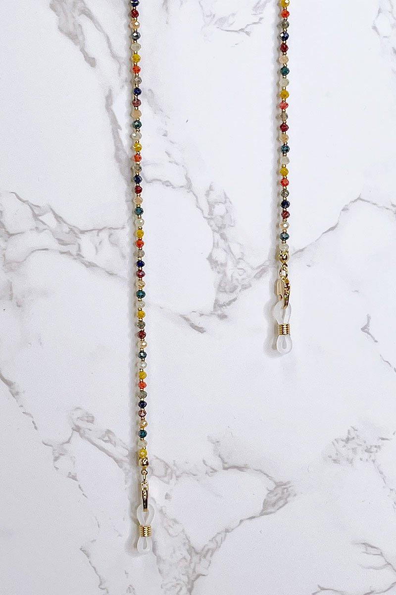 Blank Lewks | Multi Color Beaded Mask Chain | Multi