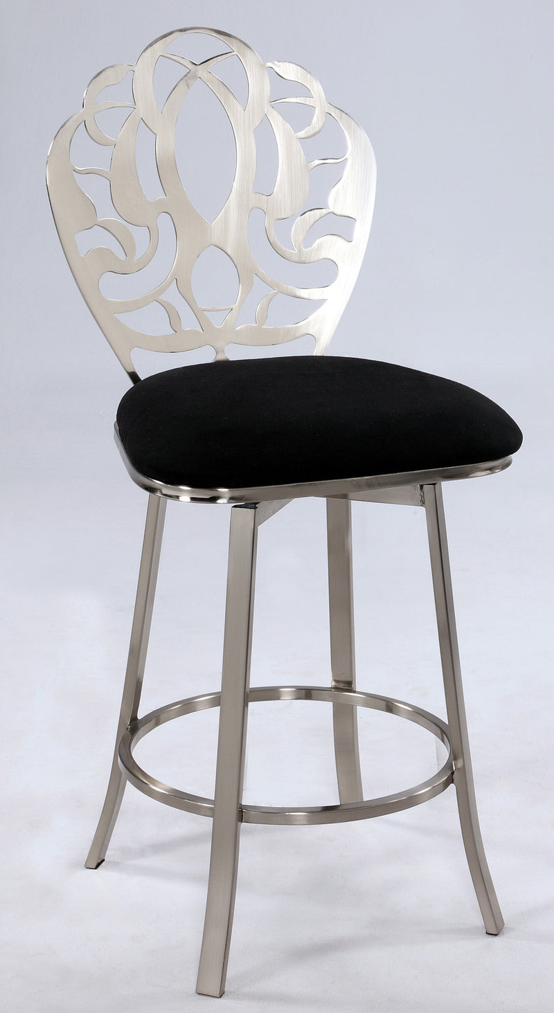 Laser Cut Back Memory Swivel Counter Stool