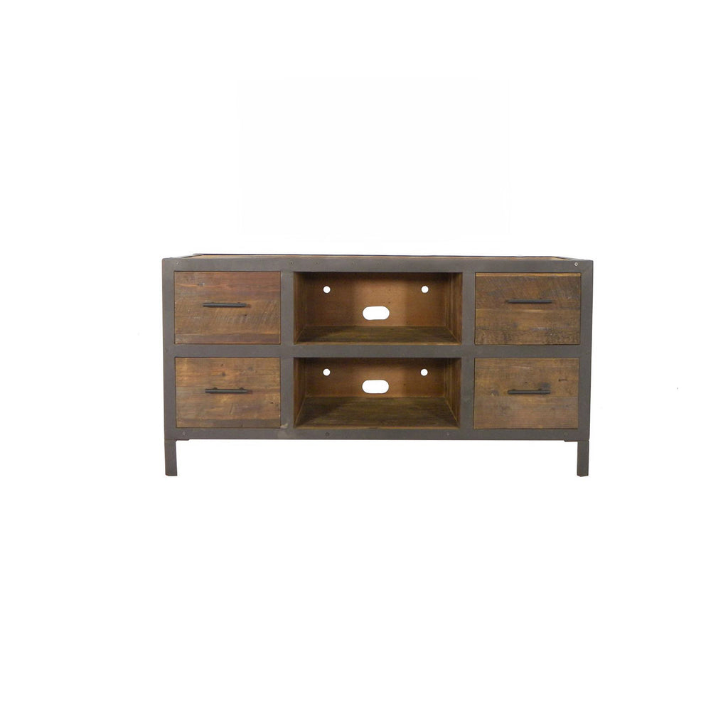 4-Drawer Reclaimed Wood Media Console