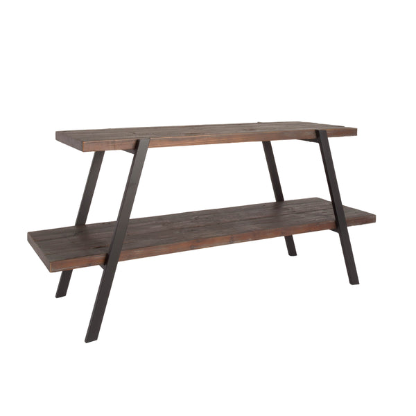 2-Shelf Aged Grey Reclaimed Wood TV Stand - Shopify