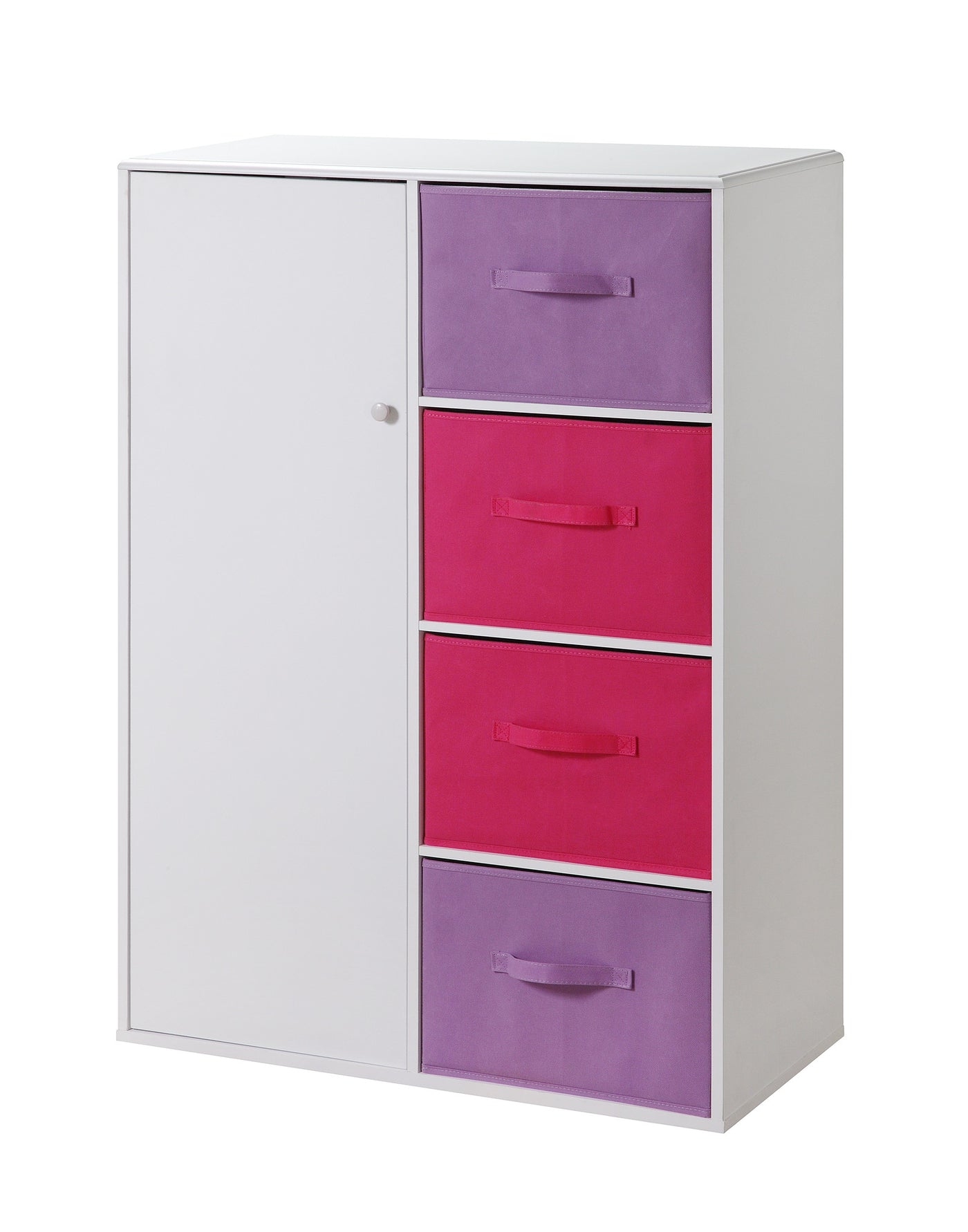 Colorful Girl\'s Bedroom Storage Armoire/Closet with Bins