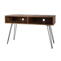 Natural Reclaimed Wood 2-Shelf Media Console