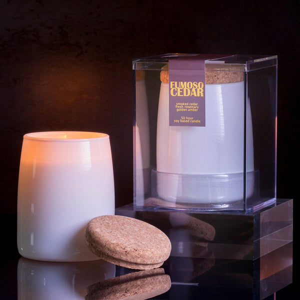 Michael Anthony Furniture Fumoso Smoked Cedar Scented Soy Candle