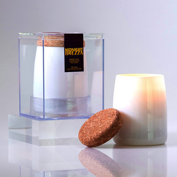 Michael Anthony Furniture Midnight Brezza Sandalwood Scented Soy Candle