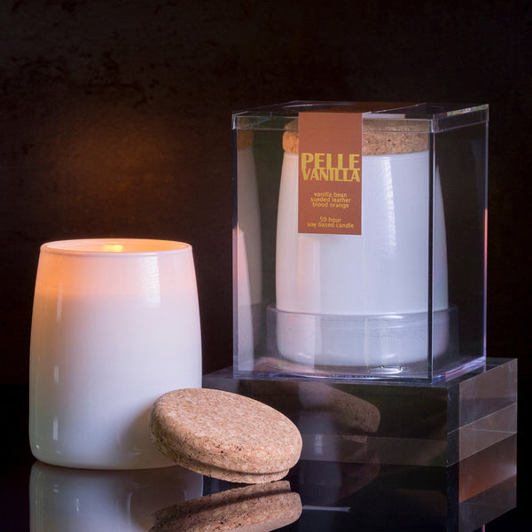 Michael Anthony Furniture Pelle Vanilla Suede Scented Soy Candle
