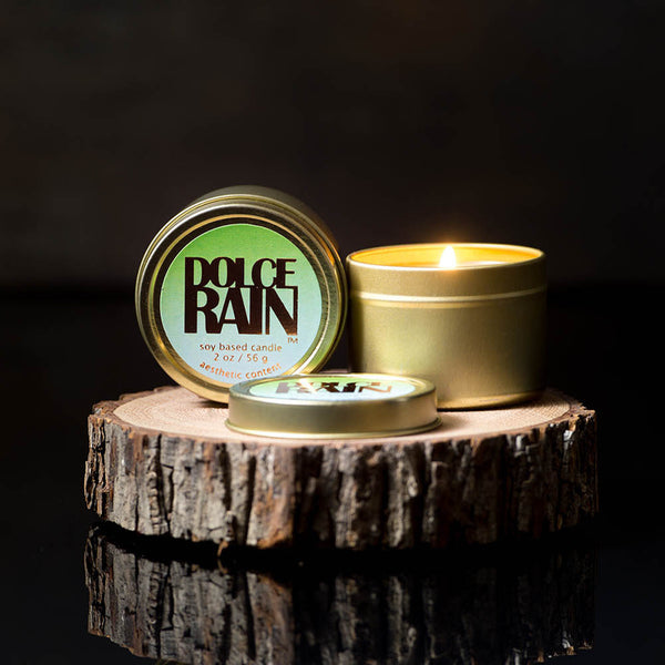 Michael Anthony Furniture Set/2 Dolce Rain Water Scented Soy Travel Candles