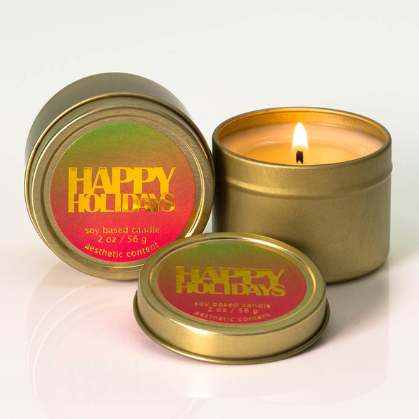Michael Anthony Furniture Happy Holidays Frasier Fir Scented Soy Travel Candles (Set Of 2)