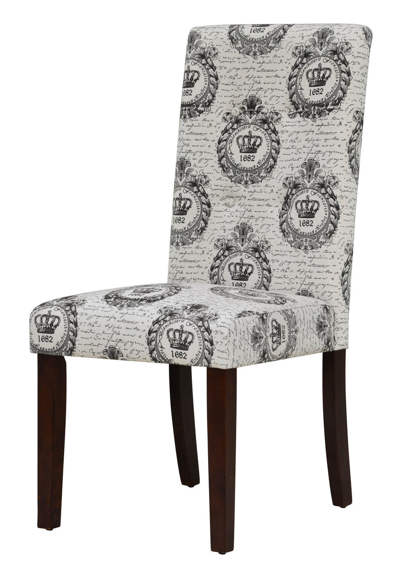 davie royal crest tufted dining chair set of 2