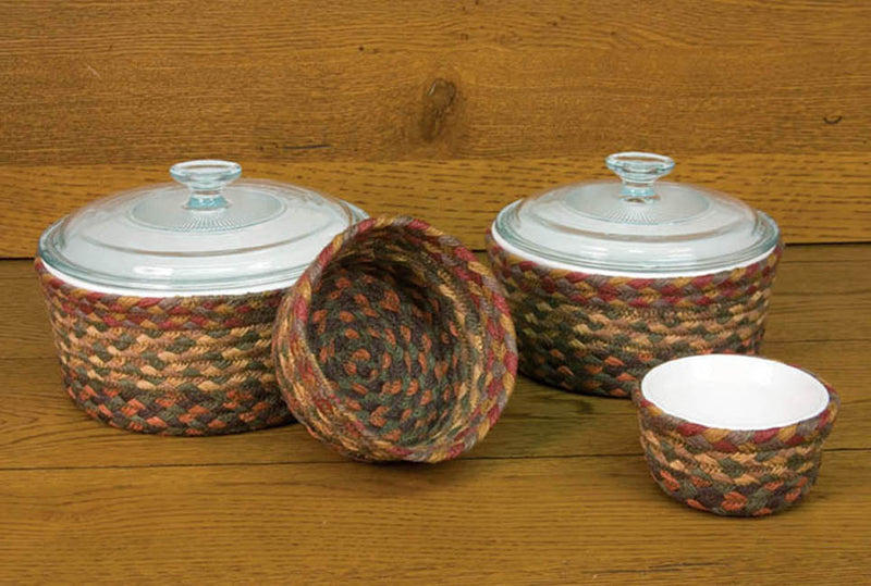 Honey/Vanilla/Ginger Round Casserole Baskets (Set of 4)