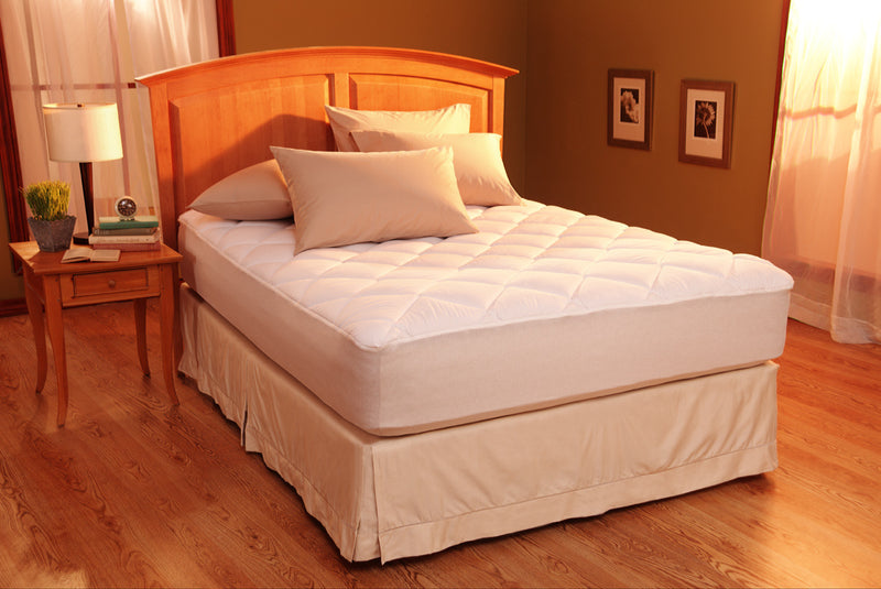 restful nights egyptian cotton mattress pad queensize mattress pads