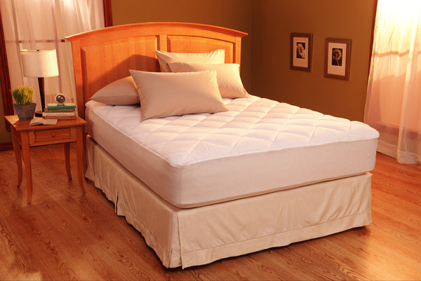 Restful Nights Egyptian Cotton Mattress Pad Queen-Size Mattress Pads