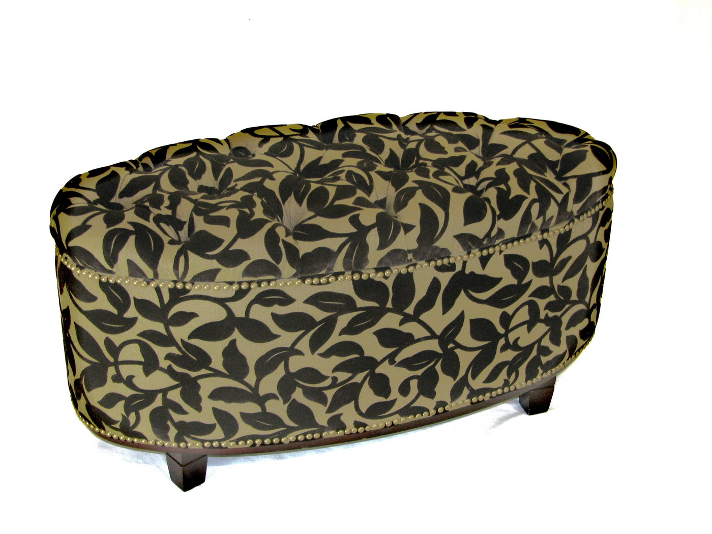 Michael Anthony Furniture Aura Oval Tufted Top Ottoman Bench