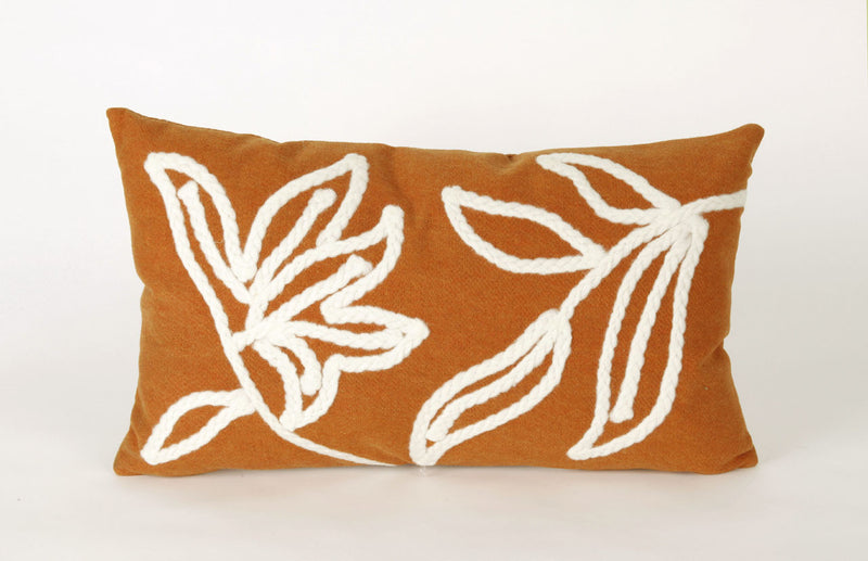 "Windsor Orange 12"" x 20"" Indoor Outdoor Pillow"