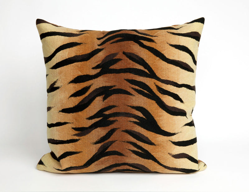 "Tiger Brown 20"" Square Indoor Outdoor Pillow"