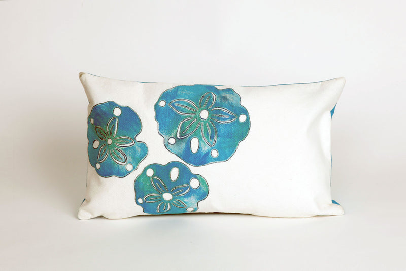 "Sand Dollar Pearl 12"" x 20"" Indoor Outdoor Pillow"