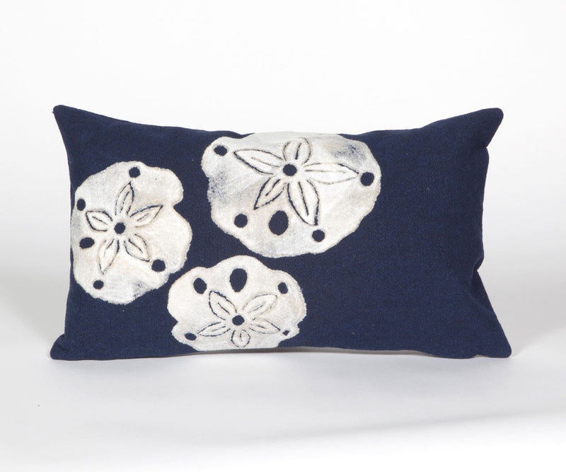 "Sand Dollar Navy 12"" x 20"" Indoor Outdoor Pillow"