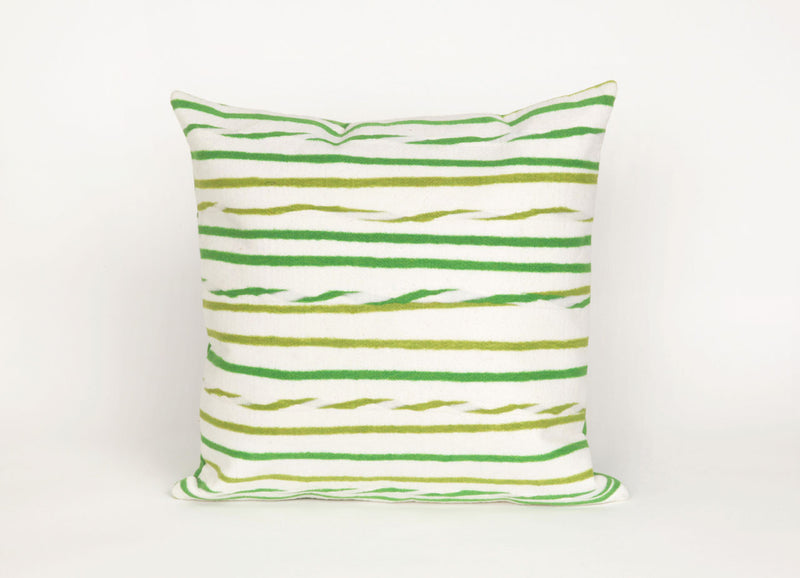 "Twist Stripe Leaf 20"" Square Indoor Outdoor Pillow"