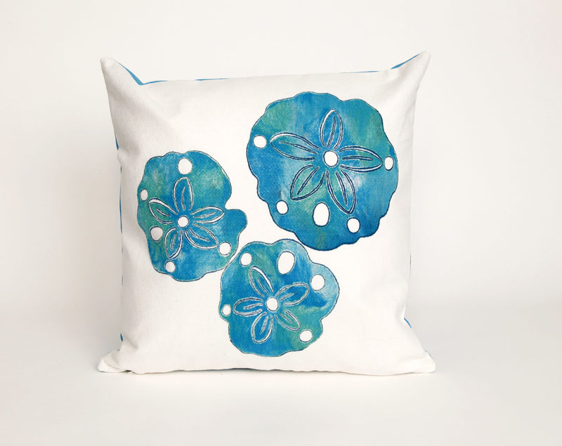 "Sand Dollar Pearl 20"" Square Indoor Outdoor Pillow"