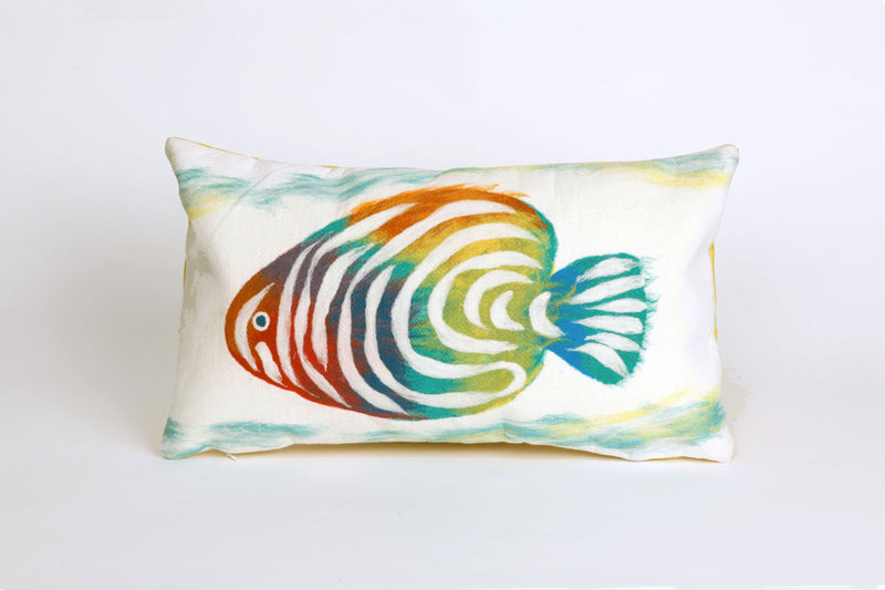 "Rainbow Fish Pearl 12"" x 20"" Indoor Outdoor Pillow"